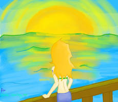 Nami watching the sun - for smile-smiley by NellyPixit