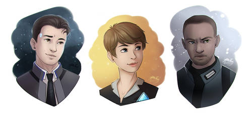 Detroit: Become Human  Skethes by Soltia