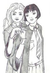 Pansy and Hermione by Manarangi