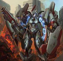 Mechanized Combat Suit by Tyvik