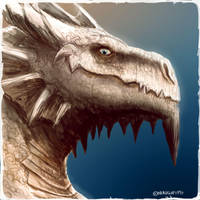 Daily Painting #63 - My Dragon Avatar by maugryph