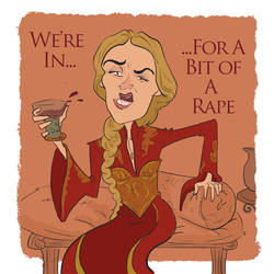 Cersei has a drinking problem by bangalore-monkey