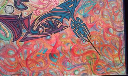 Transformational Mandala - Fire Element Detail by D4NKD35IGN5