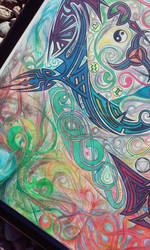 Transformational Mandala - Wind Element Detail by D4NKD35IGN5