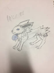 Close up of Jolteon!Colonnello by Marssie1918