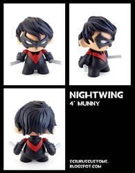 Nightwing Munny by FlyingSciurus