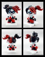 Harley Quinn custom munny by FlyingSciurus