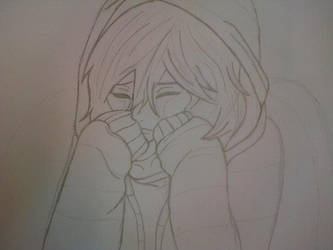 crying anime girl (pencil) by EternalFox99