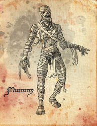 Monstrosities: Day 4- Mummy by greaperx666