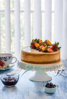 Cheesecake with lemon curd by BeKaphoto