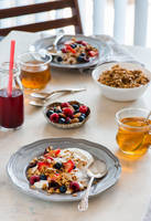 Breakfast with yogurt and granola by BeKaphoto