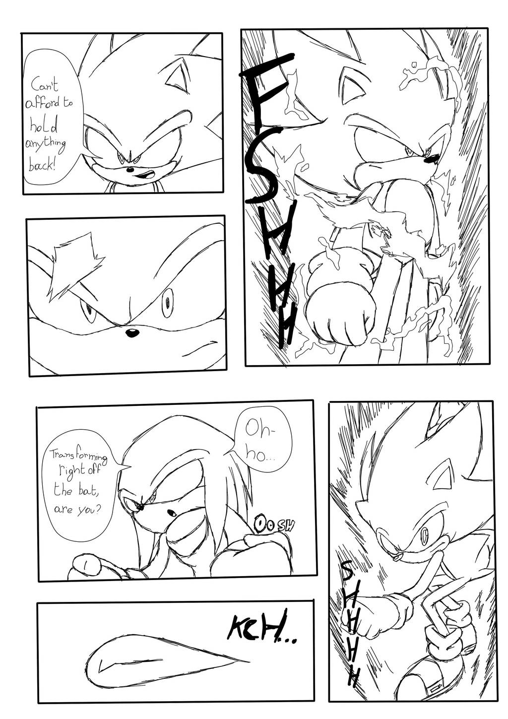 Sonic VS Knuckles Page 2 by JLuisJoni