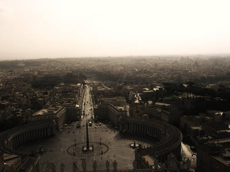 St. Peter's Over Rome by ErinM2000