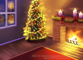 Christmas Living Room by CantaloupeFish