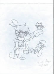 L-Rid as an Inkling (sketch) by L-Rid