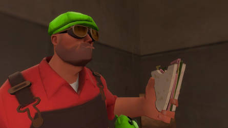 Engineer Love His Sandvich by DOD4EVER