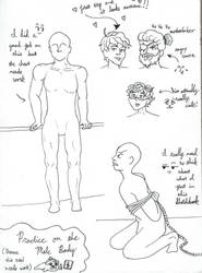 Male Practice Sketches: Daily Doodles by Blackswan2714