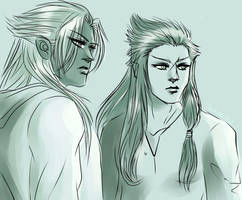 17.01.17. Teen Xemnas and Saix by TheIronbirdOfficial