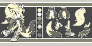 Amber the Fox Reference Sheet by CloudlessSpirit