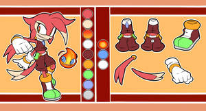 Macey the Echidna and Nuri Reference Sheet by CloudlessSpirit