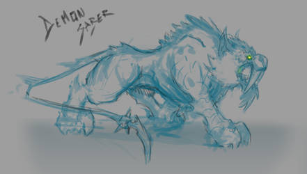 Demon Saber mount sketch by DimiDevos