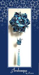 Kusudama - Arabesque in blue by KarenKaren