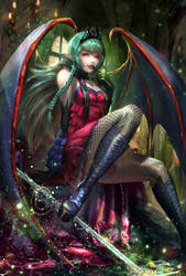 :: Evelyn the Succubus :: by Sangrde