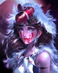 :: Mononoke Hime :: by Sangrde