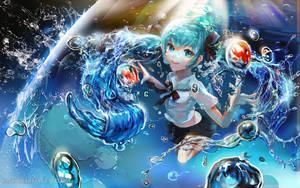 :: Bottle Miku :: by Sangrde