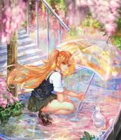 :: Sharing an Umbrella :: by Sangrde