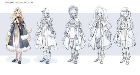 :: Lolita Outfit Adoptable :: by Sangrde