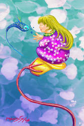 flying fish by MANDIXART
