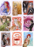 A lot of ACEOs by Yonetee