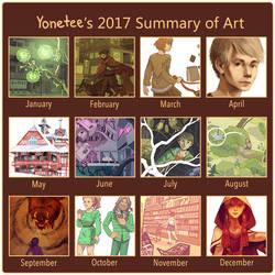 2017 Summary of art by Yonetee