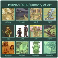 2016 Summary Of Art by Yonetee