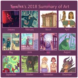 2018 Summary of Art by Yonetee