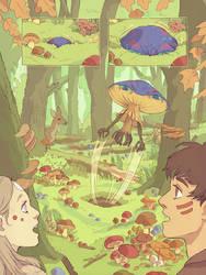 Mushroom spirit by Yonetee