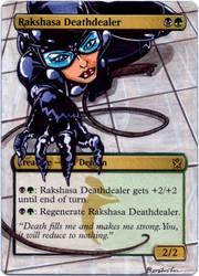 Khans of Tarkir Rakshasa Deathdealer - Catwoman by MTGAlters