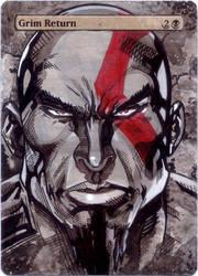 M15 Grim Return - Kratos (God of War) by MTGAlters