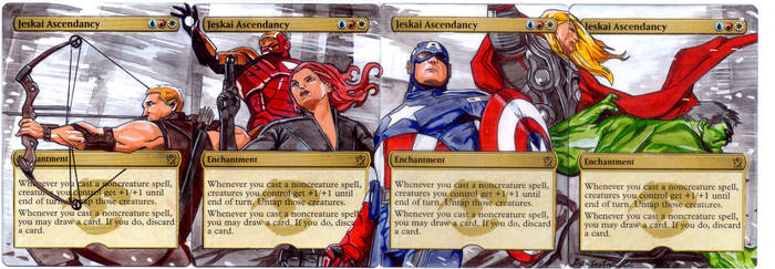 Jeskai Ascendancy - The Avengers Panorama by MTGAlters