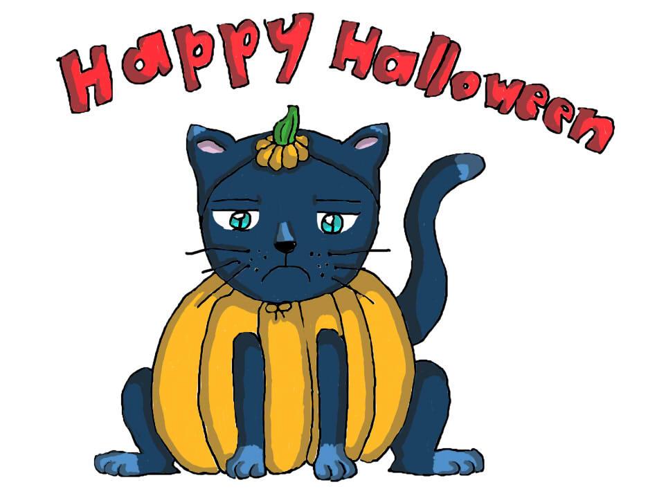 Halloween Cat by IWantAnEnderman