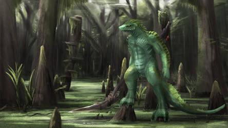 Lizard warrior by ThemeFinland