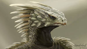 Noble female desert dragonoid by ThemeFinland