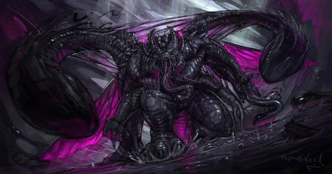 Consumed Phase Duskclaw (commission) by ThemeFinland