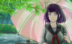 Hinata in style The Garden of Words by MoPornthida