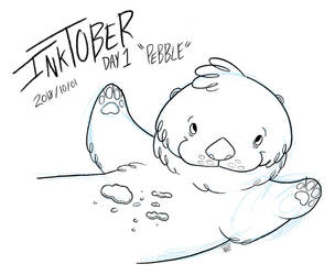 Inktober Day 1 - Pebble by nate-draws
