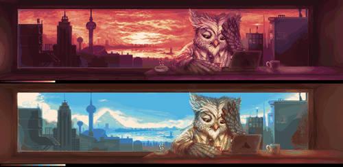 Shammy Owl Daylight by HealTheIll