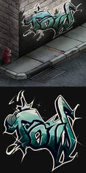 Graffiti Attempt by HealTheIll