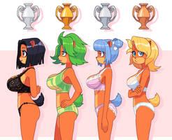 Trophy girls by KempferZero