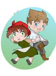 Chibi Eleanor and Phillip by Wildchild090